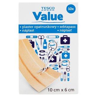 Tesco Value Adhesive Dressing Strip 10 cm x 6 cm
