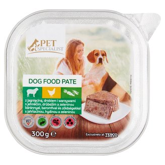 Tesco Pet Specialist Dog Food Pate with Calf, Poultry and Vegetables 300 g