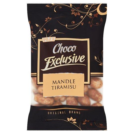 Poex Choco Exclusive Pražené jadrá mandlí v bielej čokoláde s mletou kávou 150 g