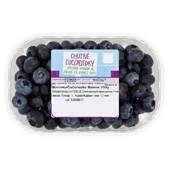 Tesco Čerstvá voľba Blueberries Packed 250 g