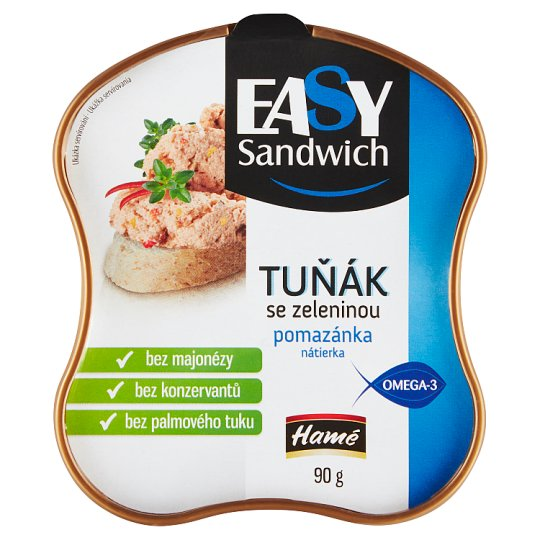 Hamé Easy Sandwich Tuna Fish Spread with Vegetables 90 g