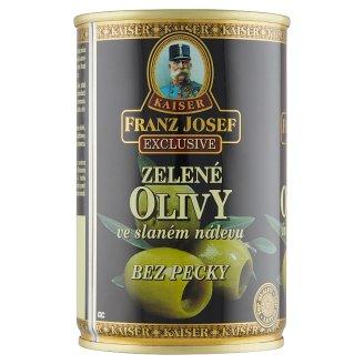 Kaiser Franz Josef Exclusive Zelené olivy bez kôstky v slanom náleve 300 g