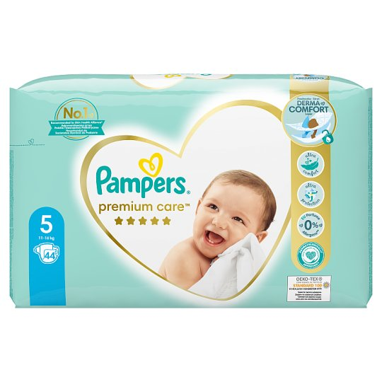 Pampers Premium Care Veľkosť 5, Plienky x44, 11kg-16kg