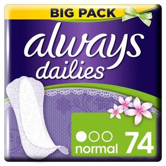 Always Dailies Slim Multiform Fresh Intímky 74 Kusov