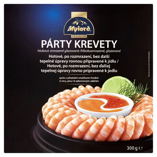 Mylord Premium Party Shrimp Deep Frozen, Glazed 300 g