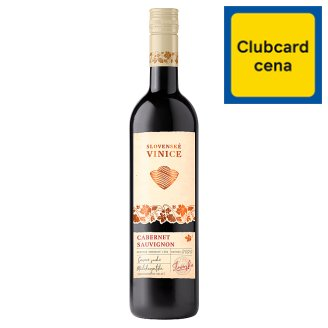 Slovenské Vinice Cabernet Sauvignon slovenské akostné odrodové červené suché víno 0,75 l