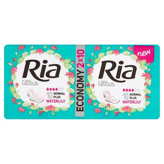 Ria Ultra Normal Plus Waterlily Pads 2 x 10 pcs