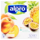 Alpro Fermented Soy Product with Yoghurt Culture - Peach, Pineapple - Passion Fruit 4 x 125 g