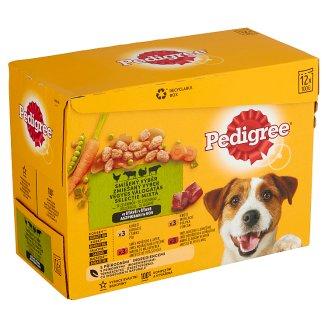 Pedigree Kompletné krmivo pre dospelých psov 12 x 100 g