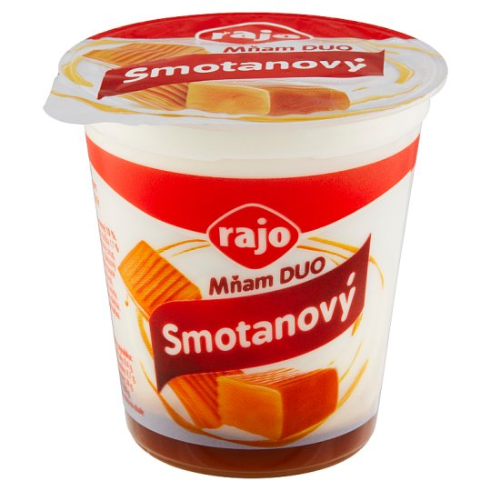 Rajo Mňam Duo Cream Yogurt Caramel 145 g