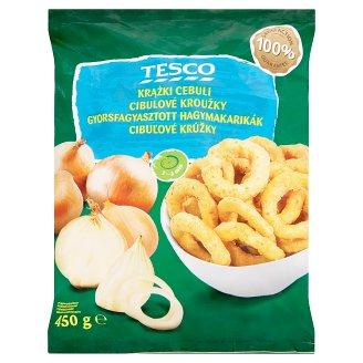 Tesco Onion Rings in Batter Deep Frozen 450 g