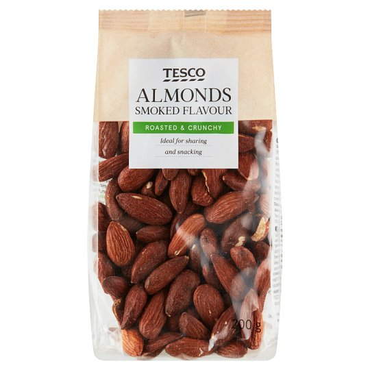 Tesco Almonds Smoked, Roasted, Salted 200 g