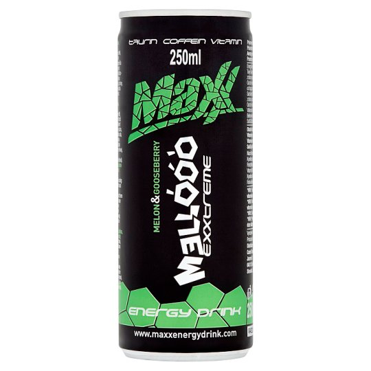 Maxx Exxtreme Mellóóó Carbonated Energy Drink with Melon & Gooseberry Flavour 250 ml