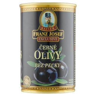 Kaiser Franz Josef Exclusive Čierne olivy bez kôstky v slanom náleve 300 g