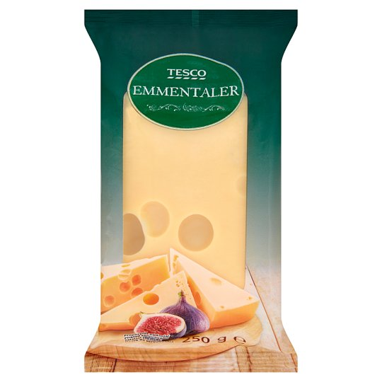 Tesco Emmentaler Semi-Hard Semi-Fat Ripened Cheese 250 g