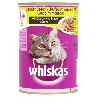 Whiskas Kuracie mäso v šťave kompletné krmivo pre dospelé mačky 400 g