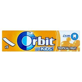 Wrigley's Orbit For Kids! Tropical fruit žuvačka bez cukru s príchuťou tropického ovocia 13 g