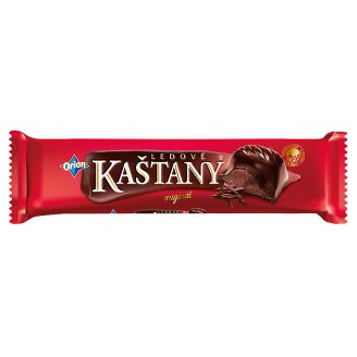 ORION LEDOVÉ KAŠTANY Bar in Dark Chocolate with Cocoa Filling 45 g