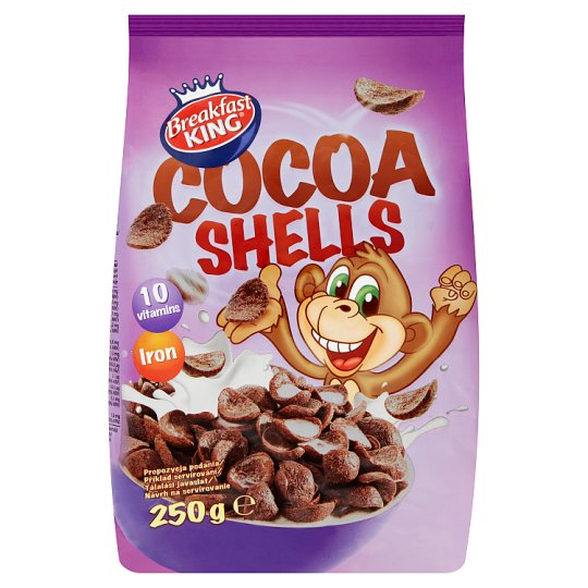 Breakfast King Cereal Cocoa Shells with Vitamins and Iron 250 g