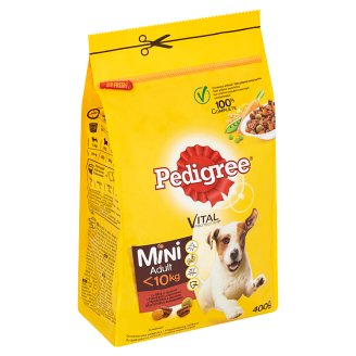 Pedigree Vital Protection with Beef and Vegetables for Adult Dogs of Small Breeds 400 g