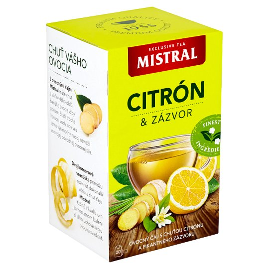Mistral Lemon & Ginger Fruit Tea 20 x 2 g