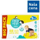 Fred & Flo Ultra Dry Nappies 5 Junior 88 pcs