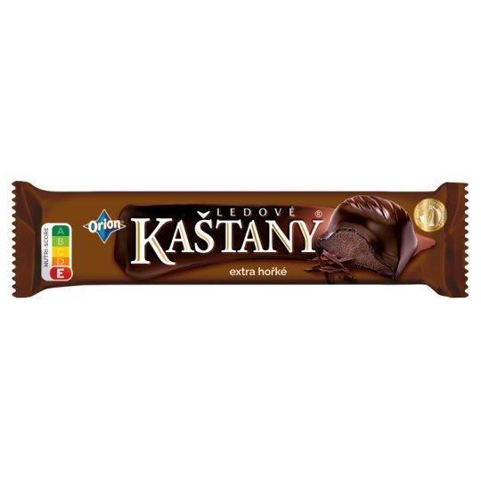 ORION LEDOVÉ KAŠTANY Bar in Extra Dark Chocolate with Cocoa-Hazelnut Filling 45 g
