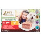 Tesco Pet Specialist Dog Food Pate with Beef and Chicken 6 x 150 g