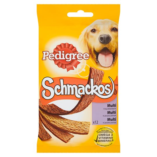 Pedigree Schmackos Multi 4 Delicious Flavours Supplementary Food for Adult Dogs 12 pcs 104 g