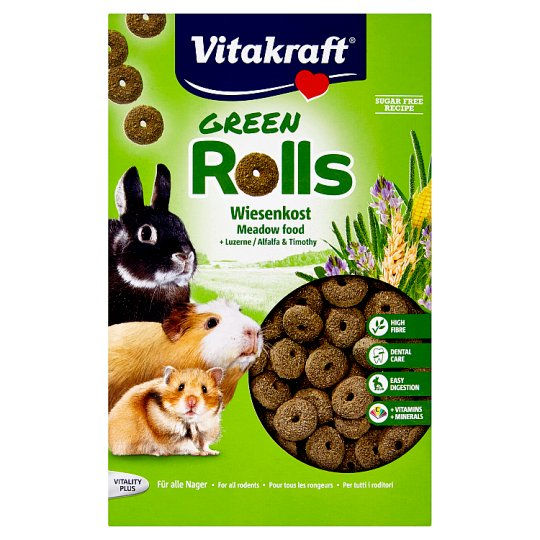 Vitakraft Green Rolls Compound Pet Food for Rodents 500 g