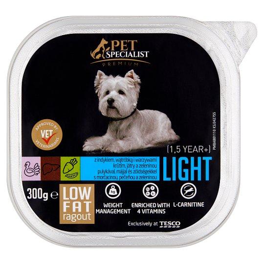 Tesco Pet Specialist Premium Light ragú s morčacinou, pečeňou a zeleninou 300 g
