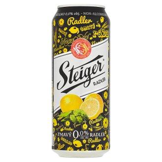 Steiger Radler Citrón tmavý nealko 0,5 l