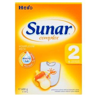 Sunar Complex 2 následná sušená mliečna výživa dojčiat 2 x 300 g