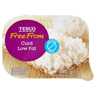 Tesco Free From Delaktózovaný tvaroh jemný hrudkovitý 180 g