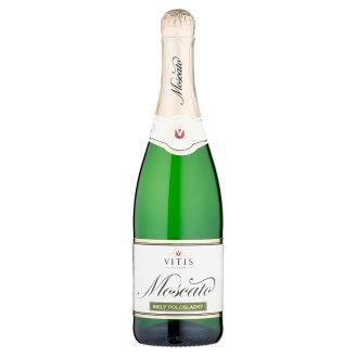 Vitis Pezinok Moscato miešaný alkoholický nápoj sýtený biely polosladký 0,75 l