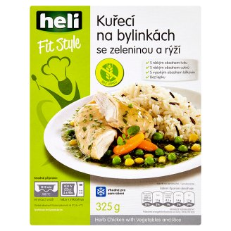 Heli Fit Style Herb Chicken with Vegetables and Rice 325 g