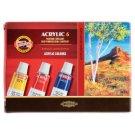 KOH-I-NOOR Acrylic Colours 6 x 16 ml