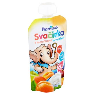 Hamánek Svačinka Baby Food Snack, Apricot and Cream Cheese 120 g