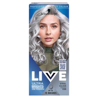 Schwarzkopf Live Ultra Brights or Pastel farba na vlasy Oceľovo Strieborná 098
