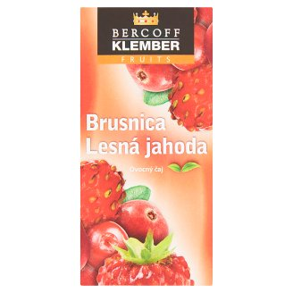 Bercoff Klember Fruits Brusnica lesná jahoda ovocný čaj 20 x 2 g