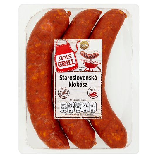 Tesco Grill Staroslovenská klobása 450 g