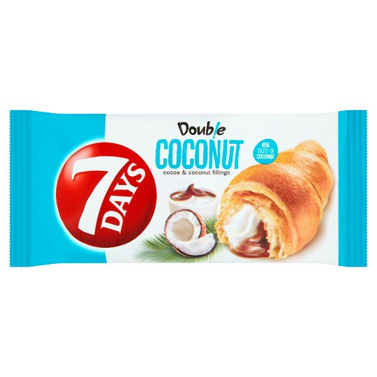 7 Days Double Croissant s kakaovou a kokosovou náplňou 60 g