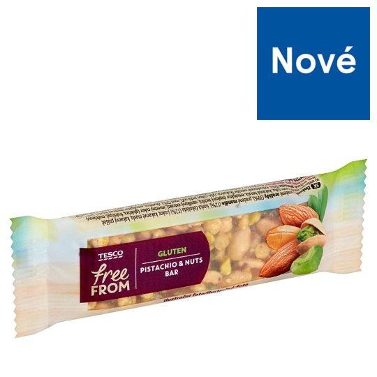Tesco Free From Tyčinka s arašidmi, mandľami a pistáciami, polomáčaná bezgluténová 35 g