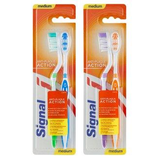 Signal Anti-Plaque Medium zubná kefka stredne tvrdá 2 ks