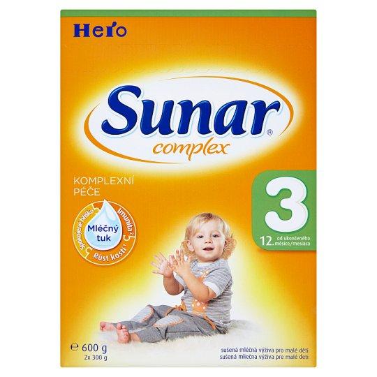 Sunar Complex 3 sušená mliečna výživa pre malé deti 2 x 300 g