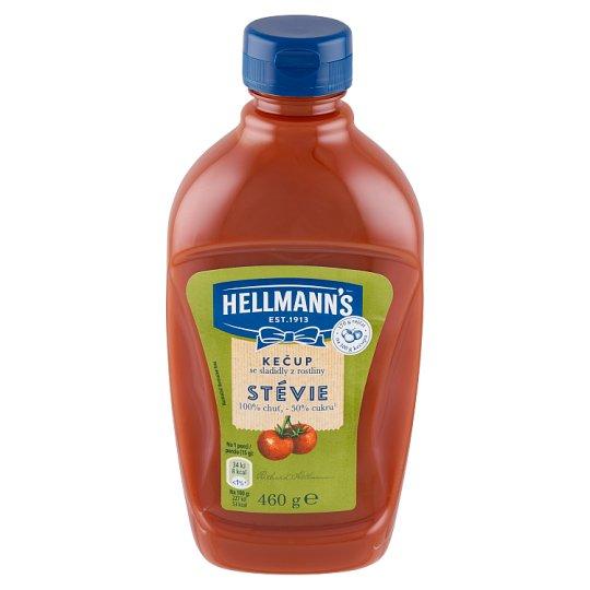 Hellmann's Kečup jemný s cukrom a sladidlom glykozidy steviolu 460 g