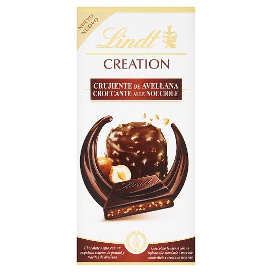 Lindt Creation Extra Dark Chocolate Filled with Almond-Hazelnut Paste 150 g
