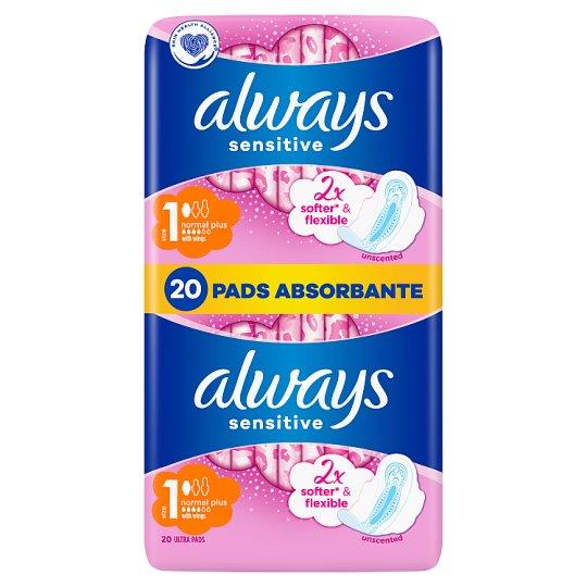 Always Ultra Sensitive Normal Hygienické Vložky S Krídelkami 20 Kusov