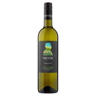 Matyšák Rilzling Vlašský akostné víno biele suché 0,75 l