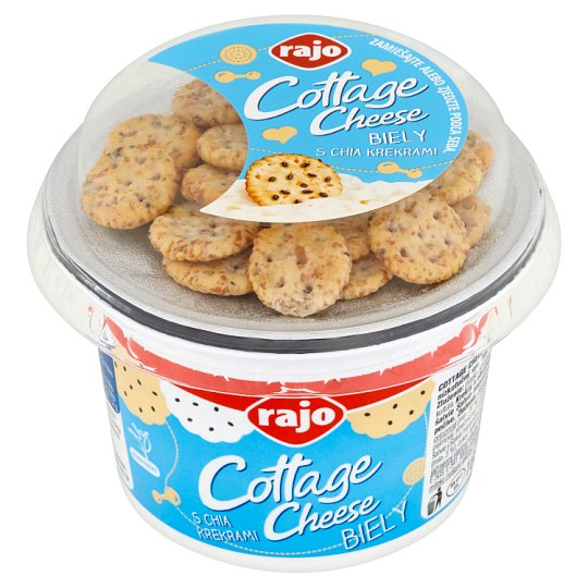 Rajo Cottage Cheese White with Chia Crackers 160 g